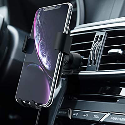 Squish Qi Wireless Car Charger, Wireless Charger Car Mount, Fast Charging Car Mount, Adjustable Gravity Air Vent Phone Mount for iPhone11/11ProMax/XR/XS/X, Samsung Android Smartphones, Qi Certified