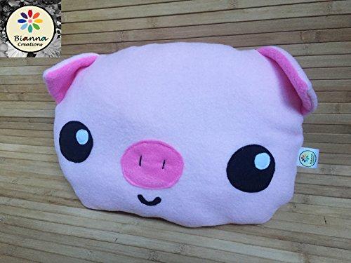 Sr Plush (Handmade Kawaii Friend Piglet Pillow Plush, Anime Seven Deadly Sins Sr Hawk baby version Fanart inspired, Pig plushie, Anime toy, Travel piggy cushion)