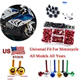 Yamaha YZF-R125 2008-2015 M5 M6 CNC Complete Fairing Bolt Screws Kit Fasteners