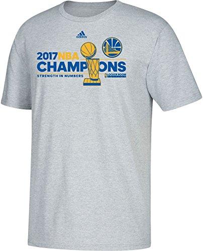 adidas Golden State Warriors 2017 NBA Finals Champions Official Locker Room Grey T-Shirt X-Large