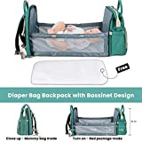 New Diaper Bag Backpack with Bassinet, Large