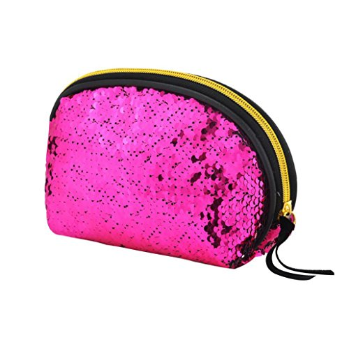 Wallet Bag for Color Cluthes Lavany Handbag Zipper Bag Hot Women Women Sequins Pink Double ZZ0qBFgz