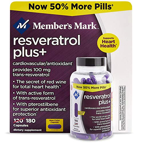 Member's Mark 100mg Resveratrol Plus+ Dietary Supplement (180 ct.) NEW (1)