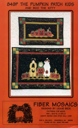 The Pumpkin Patch Kids and Boo the Kitty (Wall Quilt Patterns) (849P) (Halloween Quilt Wall Hanging Patterns)