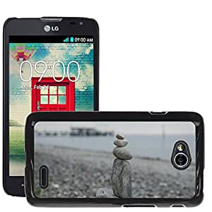 Hot Style Cell Phone PC Hard Case Cover // M00169019 Stones Sculpture Statue Fig // LG Optimus L70 MS323