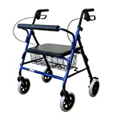 Karman Healthcare R-4800-BL Heavy Duty Rollator-Blue