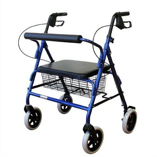 Karman Healthcare R-4800-BL Heavy Duty Rollator-Blue