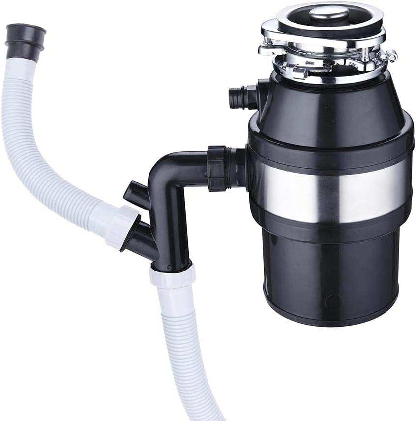 1 HP 2600 RPM Continuous Feed Household Plug In Garbage Disposer for Kitchen Waste Disposal Operation.Safe & Clean - removable splash baffler at the top to avoid garbage splashing outBlack