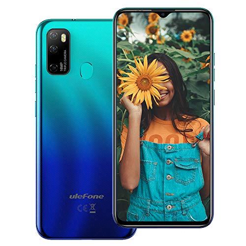 "Ulefone Note 9P (2020) Cell Phones Unlocked, Android 10 Octa-core 4GB + 64GB ROM, 16MP Triple Rear Camera + 8MP Front Camera, 6.52"" HD+ Screen 4500mAh Big Battery Dual 4G Unlocked Smartphones -Blue"