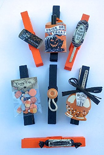 Haunted Halloween Candy Decorated Clothespins~Spooky Hostess Gift~Halloween Party Favors~Classroom Decorations~Spooky Decorations~Classroom Party (Classroom Halloween Games)