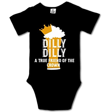 38c72a73e0 Amazon.com: BjlkMLMLM Dilly Dilly A True Friend of The Crown Baby Outfit  Creeper Short Sleeves Onesies: Clothing