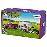 Schleich Pick up with Horse Box Action Figure