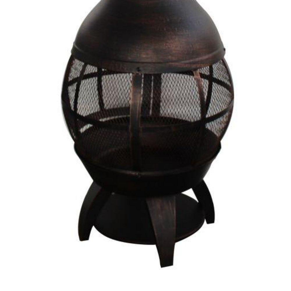 amazon com 55 5 in portable cast iron chimenea outdoor wood