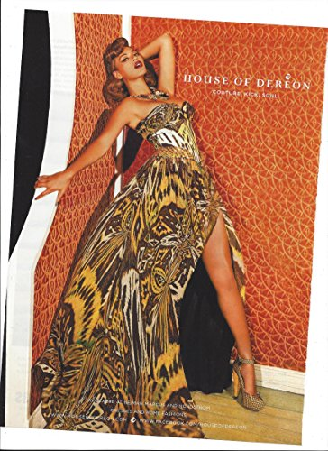 PRINT AD For House of Deeon Fashion 2010 Beyonce Brown Print Dress OriginalPRINT AD - Dereon Dress