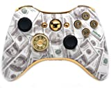 ''Money Talks All Bullet '' Xbox 360 Rapid Fire Custom Modded Controller Exclusive Design - COD BO2, BO3, Advanced Warfare, Destiny, Ghosts, Ready Zombie Auto Aim, Drop Shot, Fast Reload, & MORE for Ghost !