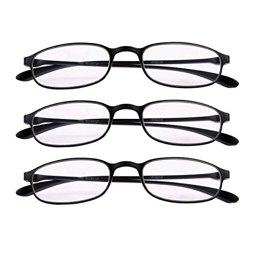 3 PRS Southern Seas Flexible Black Frame +2.00 Everyday Use Reading - Flexible Glasses Frames