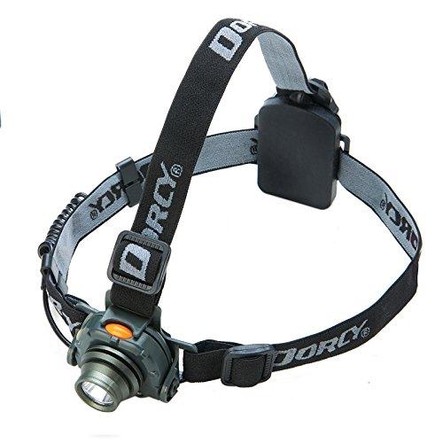 Dorcy 200 Lumen Lightweight Motion Sensor LED Headlight with Motion Sensor Mode and Pivoting Head (41-2104)