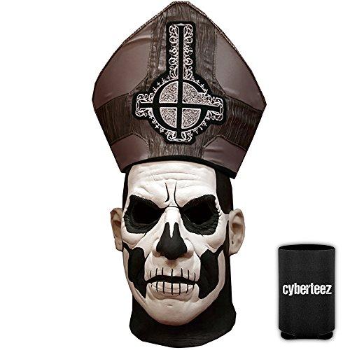 GHOST Papa Emeritus II Men's DELUXE Latex Costume Overhead Mask -
