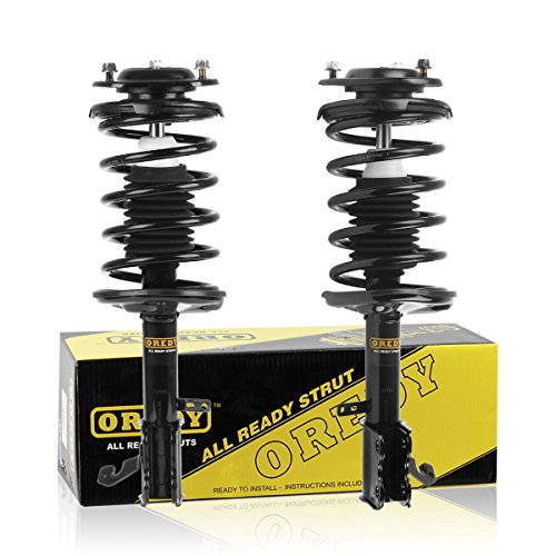 (OREDY Front Pair 2Pieces Complete Struts Assembly Shock Coil Spring Assembly Kit 171951 171952 11442 11441 Compatible with Geo Prizm 1993 1994 1995 1996 1997)