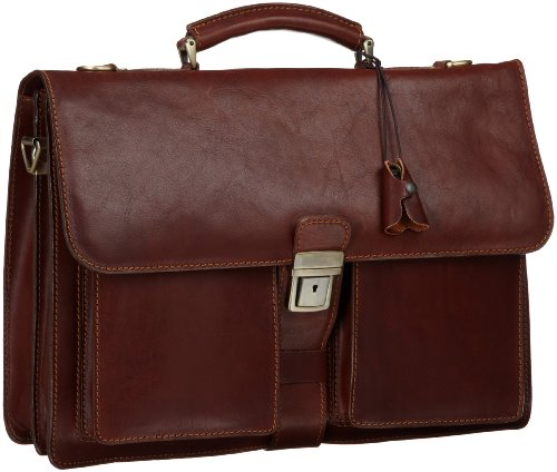 Floto Luggage Novella Briefcase, Brown, One Size, Bags Central