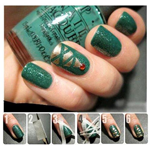 Ecurson 17m*1.2cm French Style Manicure Nail Art Tips Creative Nail Stickers Tape Decor Nail Tape Strip For (Tips Ezflow Nail)