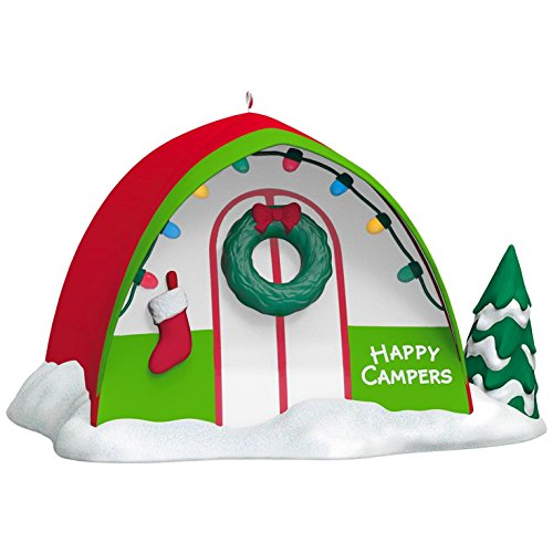 Happy Campers Christmas Ornament made our list of Over 100 Ideas For This Holiday Season For Christmas Gifts For Campers And RV Owners!
