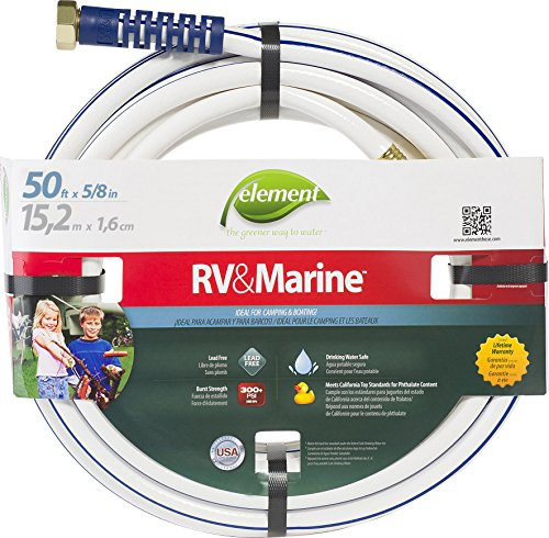 Swan Products ELMRV58050 Element RV & Marine Camping and Boating Water Hose 50' x 5/8