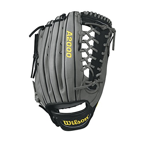 "Price comparison product image Wilson A2000 KP92 Outfield Baseball Glove, Grey/Black, 12.5"", Left Hand"
