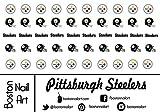 steelers Pittsburgh Steelers - Waterslide Nail Decals - 50pc