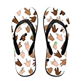 Hip Hop Hands Top Quality Unisex Flip Flops Rubber Thong Sandal Beach Slipper For Women/Men