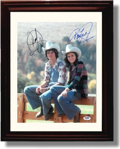 Framed Donny and Marie Osmond Autograph Replica Print