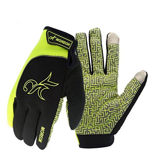 Women/Men Touch Screen Full Finger Gloves for Smartphone Yellow - 8