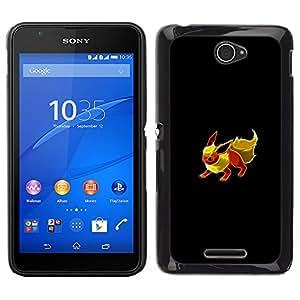 A-type Arte & diseño plástico duro Fundas Cover Cubre Hard Case Cover para Sony Xperia E4 (Meter Monster Red Fox)