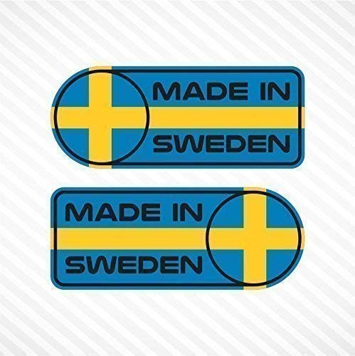 Made In Sweden Sticker Set Vinyl Decal Badge For Swedish for sale  Delivered anywhere in Canada