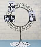 Large Clever and Decorative Bridal Wedding Standing Ring Photo Card Caddy Holder