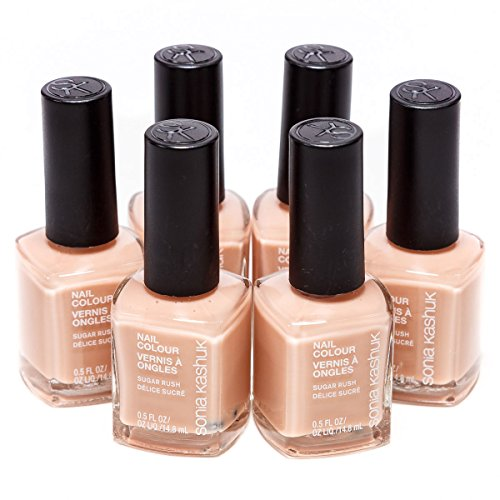 6-Pack Sonia Kashuk Nail Colour Polish 0.5 FL OZ Nail Color : Sugar Rush -23 (Colors close to: Light Apricot Pink Peach) -