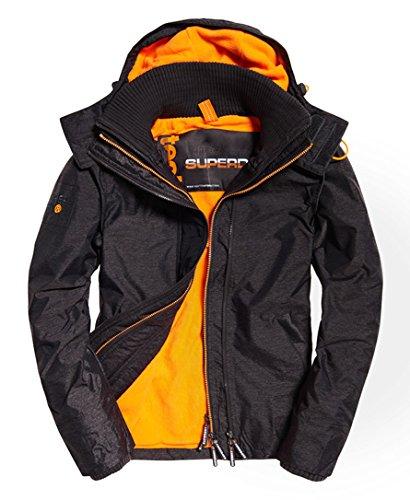 Pop Zip Hood Arctic Wndcheater Nb Charcoal Marl/Fluro Orange XL - Mens Nb Zip