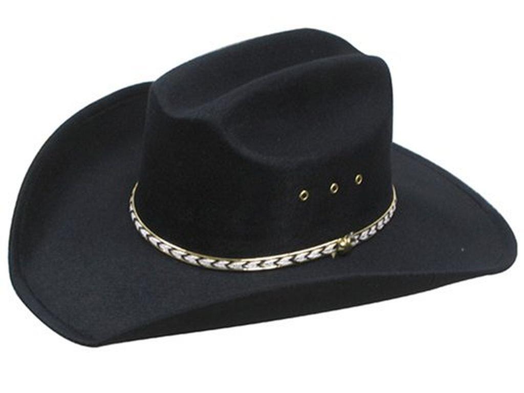 Western Cappello cattl Eman Cappello da cowboy cappello rodeo Blk taglia L/XL
