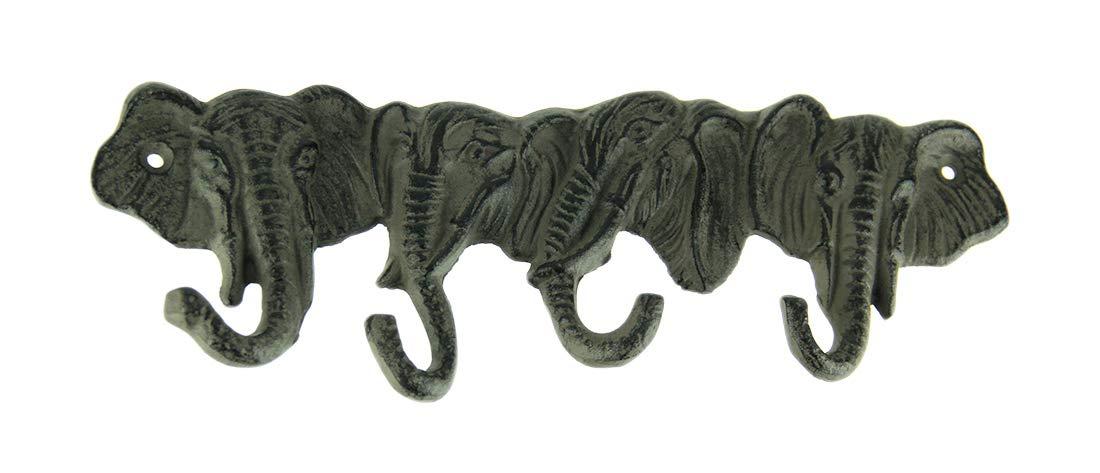 1 X Iron Elephant Key Rack Cast Iron Elephant Key Rack Hanger 2832