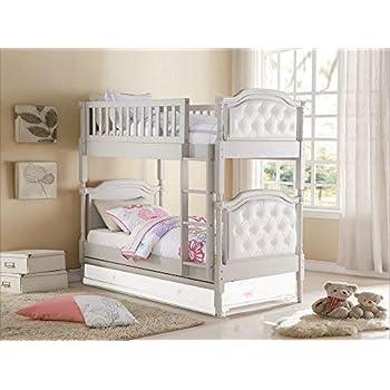 Amazon Com Acme Furniture Ac 37650 Bed Cream Linen