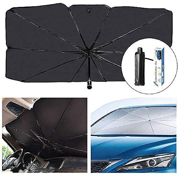 Sedan SUV Car Sun Shade for Windshield UV Rays and Heat Sun Visor Protector Foldable Windshield Sun Shade Umbrella Keep Car Cool Easy to Use Store x