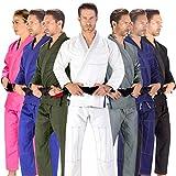 Elite Sports BJJ GI for Men IBJJF Kimono BJJ Jiu Jitsu Lightweight GIS W/Preshrunk Fabric & Free Belt (White, A4)