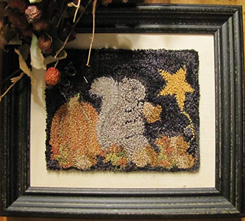 Punch Needle Embroidery NUTTY BUDDY Framed Piece