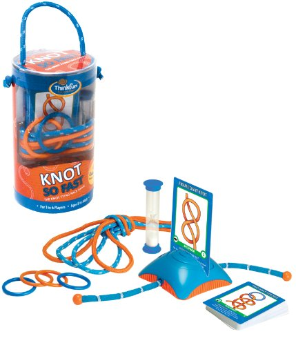 Think Fun Knot So Fast Innovative Knot Tying Game with 40 Challenges]()