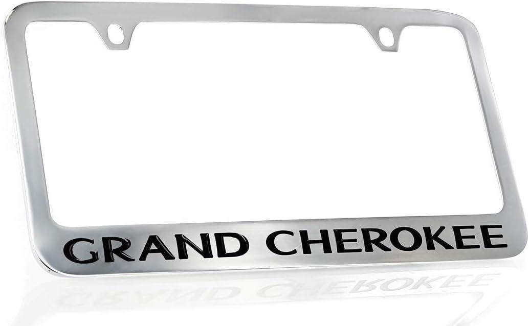 Jeep Logo Chrome Plated Brass Metal License Plate Frame Holder