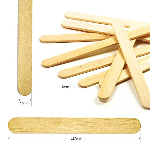 2Square Birch Wood Popsicle Craft Sticks Standard A-Grade 4.5 inch bulk 250 pieces - Wooden Ice Cream Sticks - Freeze Pop Sticks - Treat Sticks- Spa and Salon use - DIY Homemade Desserts - Natural (Best Popsicle Stick Jokes)