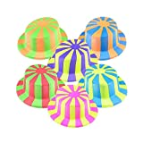 Neon Party Hat With Stripes
