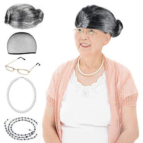 Beelittle Old Lady Costume Cosplay Set for Kids