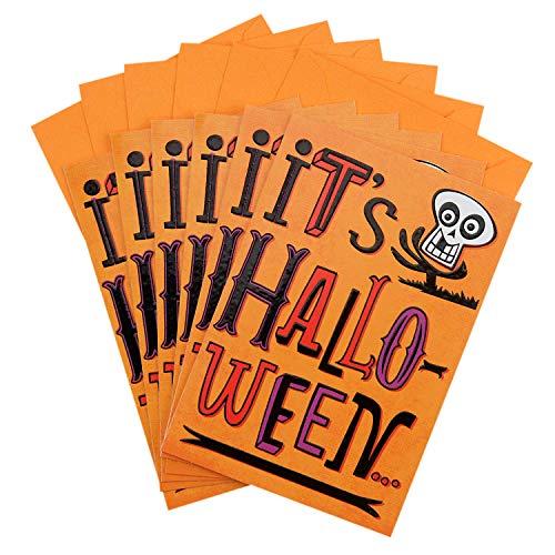 Hallmark Halloween Cards for Kids, Skeleton (6 Cards