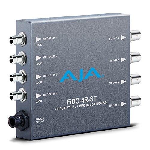 AJA FiDO-4R-ST Four Channel ST SDI to Fiber Mini Converter by Aja